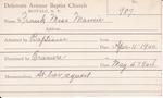 Frank, Miss. Marnie by Delaware Avenue Baptist Church
