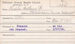 Haile, Mr. Arthur W by Delaware Avenue Baptist Church