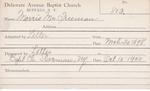 Morris, Mr. Freeman by Delaware Avenue Baptist Church