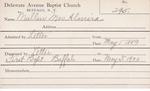 Mullen, Mrs. Almira by Delaware Avenue Baptist Church