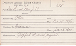 Needham, Mr. JT by Delaware Avenue Baptist Church