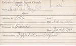Needham, Mrs. JT by Delaware Avenue Baptist Church