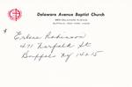 Robinson, Ms. Erlene by Delaware Avenue Baptist Church