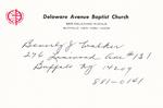 Walker, Ms. Beverly by Delaware Avenue Baptist Church