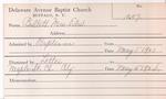 Bullet, Mrs. Edward by Delaware Avenue Baptist Church