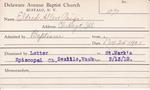 Eldred, Mr. Allen Paige by Delaware Avenue Baptist Church