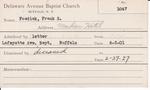 Fosdick, Mr. Frank S by Delaware Avenue Baptist Church