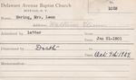 Haring, Mrs. Leon by Delaware Avenue Baptist Church