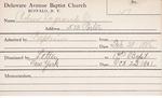 Robson, Mr. LeGrand O by Delaware Avenue Baptist Church