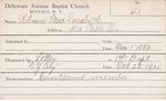 Robson, Mrs. Sarah A by Delaware Avenue Baptist Church