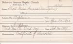 Short, Miss. Anna by Delaware Avenue Baptist Church
