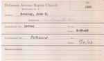 Bradley, Mr. John H by Delaware Avenue Baptist Church