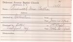 Chadwick, Miss. Bertha by Delaware Avenue Baptist Church