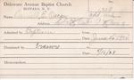 Darra, Mr. A D by Delaware Avenue Baptist Church