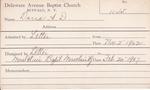 Darra, Mrs. A D by Delaware Avenue Baptist Church