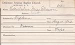 Edenhohn, Ms. Eleanore by Delaware Avenue Baptist Church