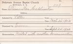 Ellison, Mrs. Madeline by Delaware Avenue Baptist Church