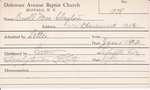 Ewell, Mrs. Clayton by Delaware Avenue Baptist Church