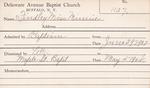 Findley, Miss. Minnie by Delaware Avenue Baptist Church
