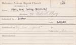 Fisk, Mrs. Edith by Delaware Avenue Baptist Church