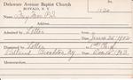 Frey, Mrs. PL by Delaware Avenue Baptist Church