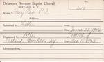 Frey, Rev. PL by Delaware Avenue Baptist Church