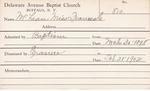 McLean, Miss. Frances H by Delaware Avenue Baptist Church