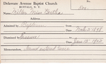 Miller, Miss. Bertha by Delaware Avenue Baptist Church