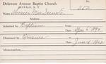 Mosier, Mrs. Irene E by Delaware Avenue Baptist Church