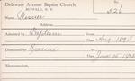 Wisner, M. by Delaware Avenue Baptist Church