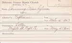Denning, Ms. Sylvia by Delaware Avenue Baptist Church