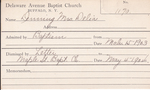 Denning, Mrs. Delia by Delaware Avenue Baptist Church