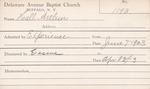 Hall, Mr. Arthur by Delaware Avenue Baptist Church