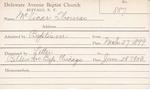 McVicar, Mr. Thomas by Delaware Avenue Baptist Church