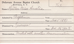 Miller, Miss. Amelia by Delaware Avenue Baptist Church