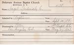 Nagel, Mr. Frederick C by Delaware Avenue Baptist Church