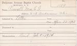 Russell, Mrs. EG by Delaware Avenue Baptist Church