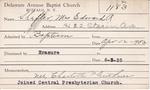Shefler, Mrs. Edward R by Delaware Avenue Baptist Church