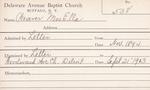 Weaver, Mrs. Ella by Delaware Avenue Baptist Church