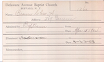 Brown, Mr. A by Delaware Avenue Baptist Church