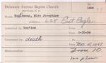 Buglemann, Miss. Josephine by Delaware Avenue Baptist Church