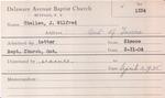 Challen, Mr. Wilfred by Delaware Avenue Baptist Church