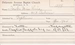 Fowler, Miss. Luia by Delaware Avenue Baptist Church