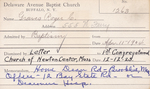 Graves, Mr. Roger C by Delaware Avenue Baptist Church