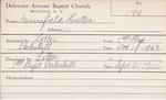 Mansfield, Ms. Hattie by Delaware Avenue Baptist Church