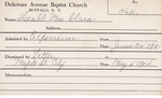 Meahl, Mrs. Clara by Delaware Avenue Baptist Church