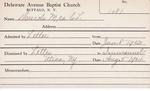Murch, Mrs. CL by Delaware Avenue Baptist Church