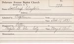Northrup, Mr. Clayton by Delaware Avenue Baptist Church
