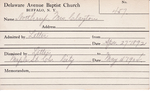Northrup, Mrs. Clayton by Delaware Avenue Baptist Church