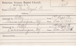Scott, Mrs. Royal R by Delaware Avenue Baptist Church